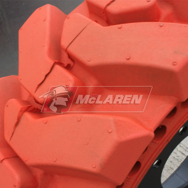 Nu-Air XDT Non-Marking Solid Tires with Flat Proof Cushion Technology with Rim for New holland LX 885
