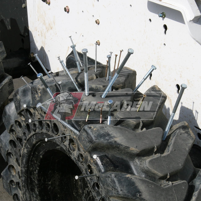Nu-Air DT Solid Rimless Tires with Flat Proof Cushion Technology for Bobcat 773G