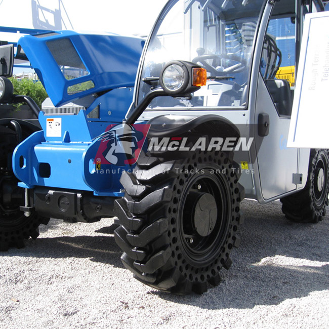 Nu-Air DT Solid Rimless Tires with Flat Proof Cushion Technology for Case 580L 2WD