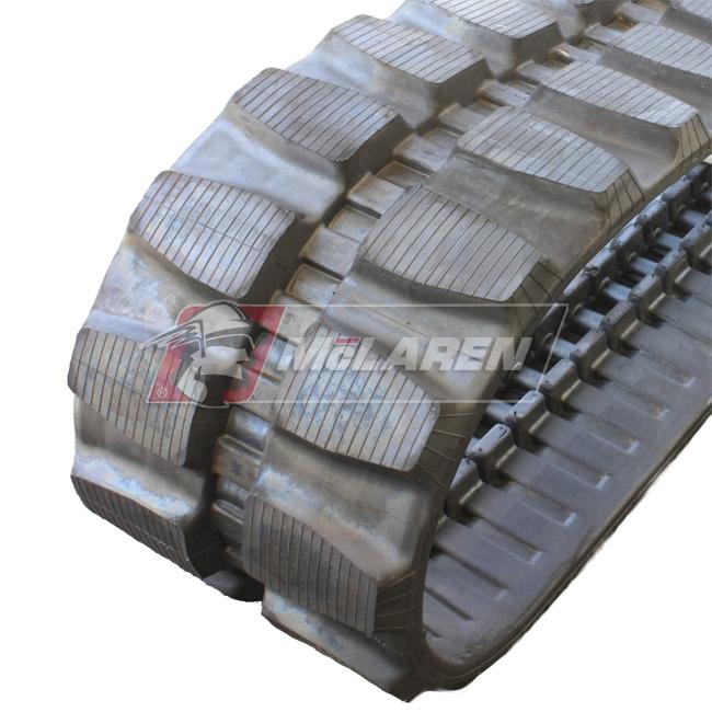 Maximizer rubber tracks for Komatsu PC 20 MR-2