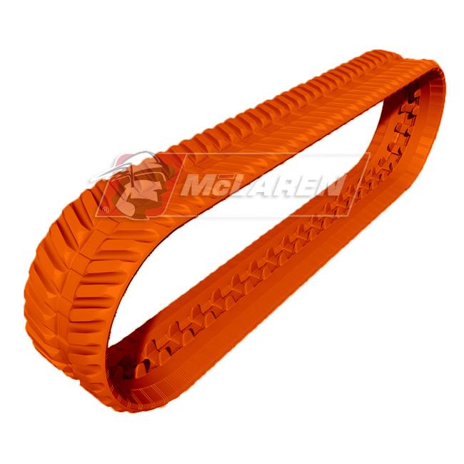 Next Generation Non-Marking Orange rubber tracks for Hinowa DM 13