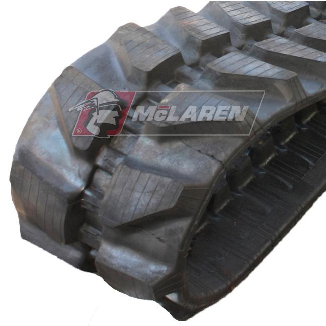 Maximizer rubber tracks for Komatsu PC 15 RHS