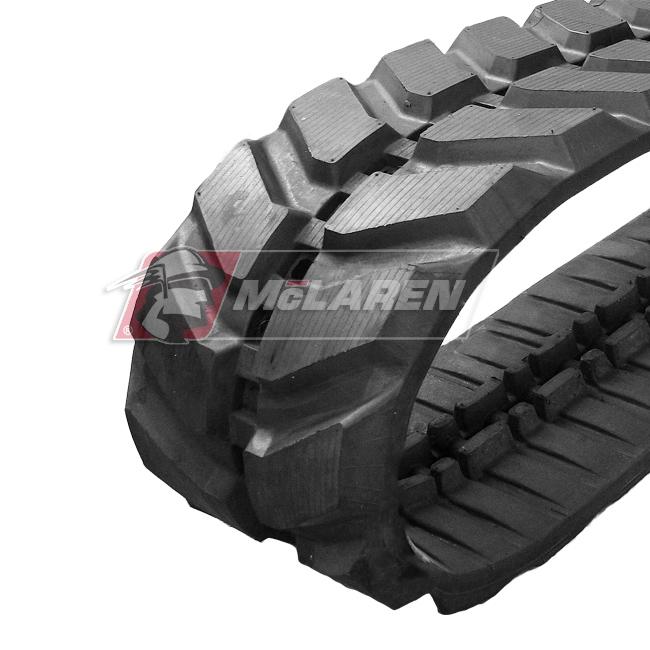 Maximizer rubber tracks for Komatsu PC 75 UU-3