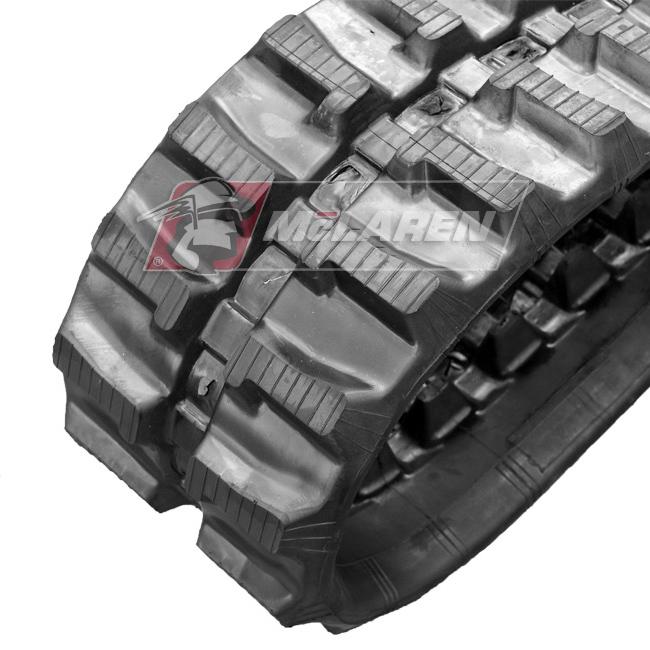 Maximizer rubber tracks for Komatsu PC 15 MR