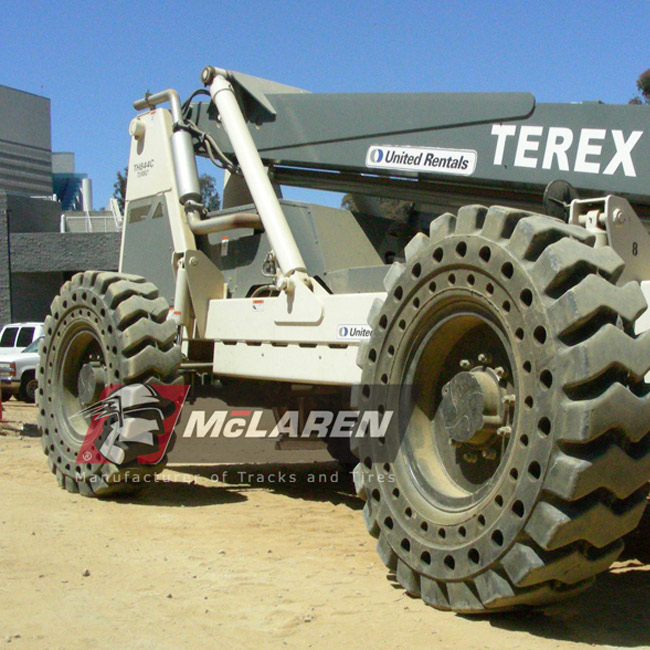 Nu-Air RT Solid Rimless Tires with Flat Proof Cushion Technology for Hitachi ZW 180