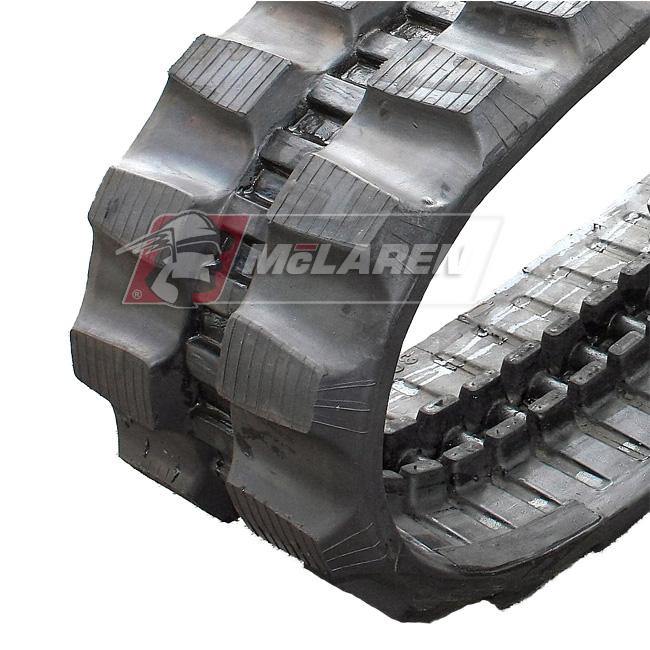 Maximizer rubber tracks for Hitachi EX 75 UR-3