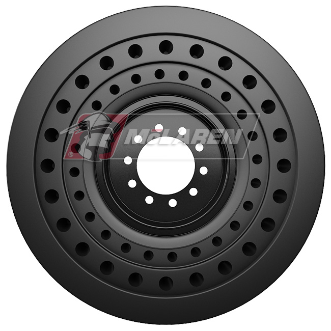 Nu-Air SS Solid Tires with Flat Proof Cushion Technology with Rim for Case 570N