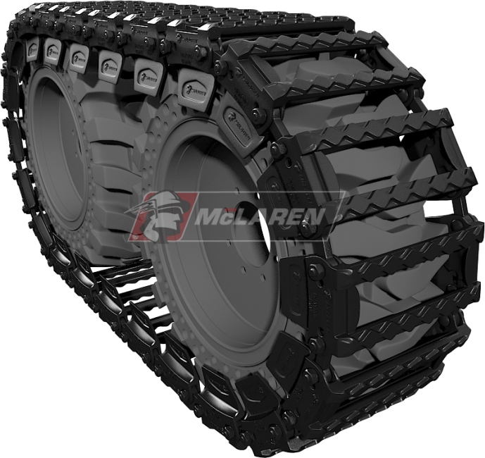 Set of McLaren Diamond Over-The-Tire Tracks for Jcb 190