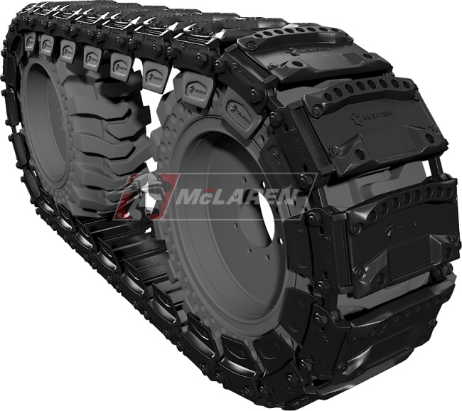 Set of McLaren Magnum Over-The-Tire Tracks for New holland L 785