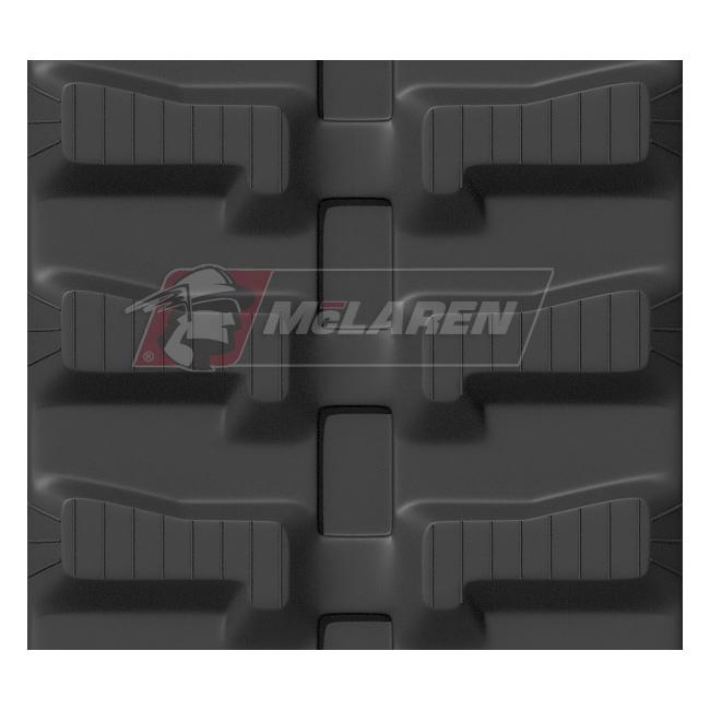 Maximizer rubber tracks for Komatsu PC 09 FR