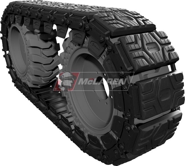 Set of McLaren Rubber Over-The-Tire Tracks for Komatsu SK 815-5