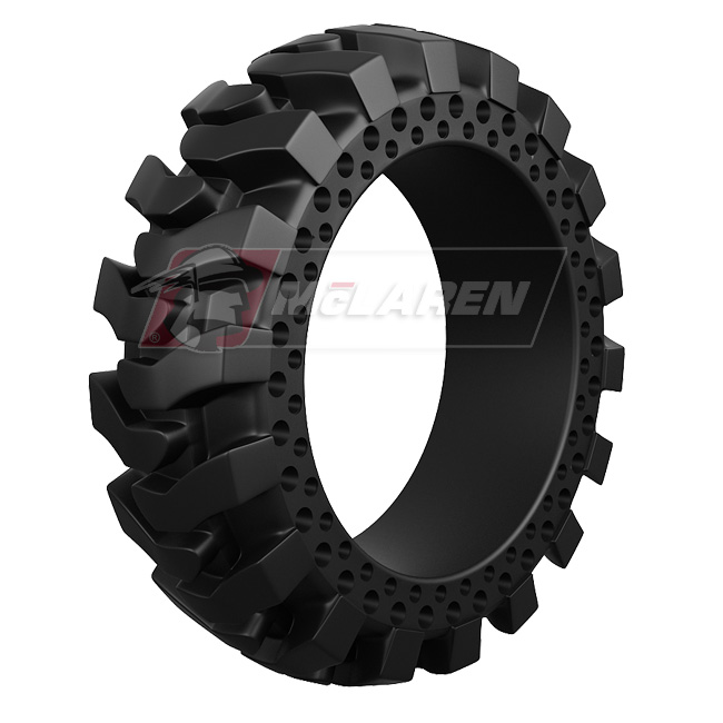 Maximizer Solid Rimless Tires with Flat Proof Cushion Technology for Case 580L 2WD