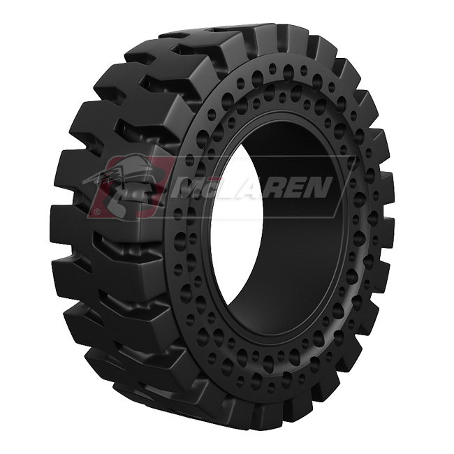 Nu-Air AT Solid Rimless Tires with Flat Proof Cushion Technology for Caterpillar 416 2WD