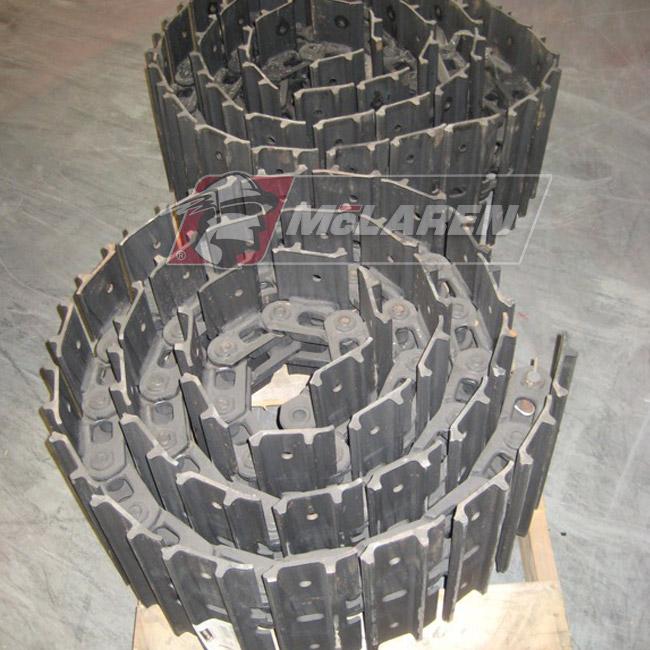 Hybrid Steel Tracks with Bolt-On Rubber Pads for Yanmar B 12 PR