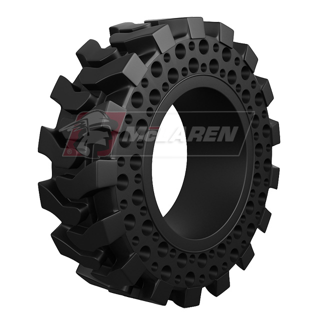Nu-Air DT Solid Rimless Tires with Flat Proof Cushion Technology for Case 580 4WD