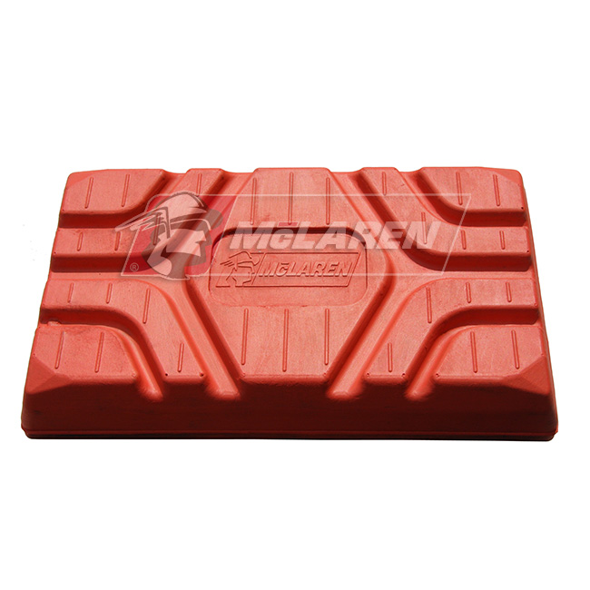 McLaren Rubber Non-Marking orange Over-The-Tire Tracks for Bobcat 763C