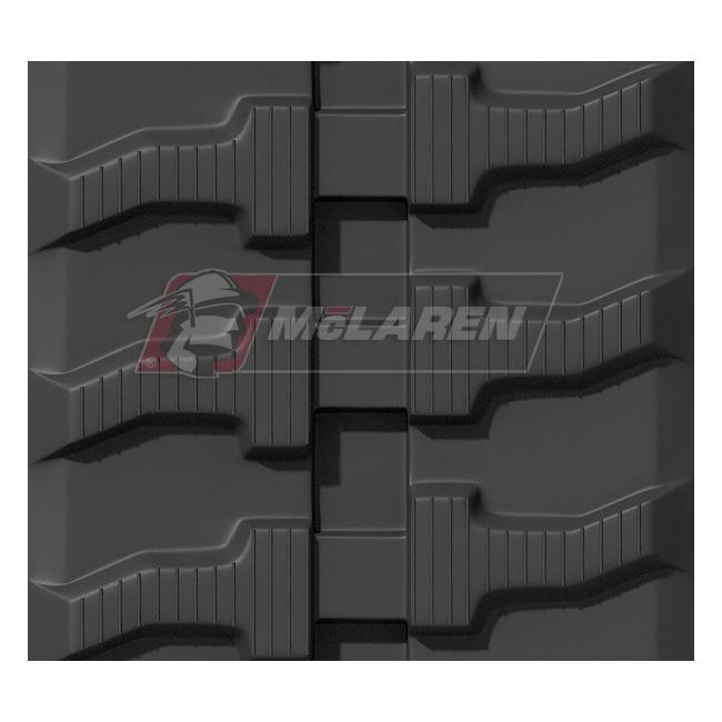 Maximizer rubber tracks for Takeuchi TZ25