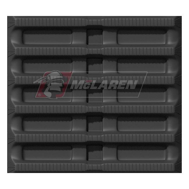 Maximizer rubber tracks for Morooka MST 550