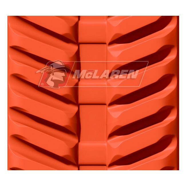 Next Generation Non-Marking Orange rubber tracks for Hinowa DM 11