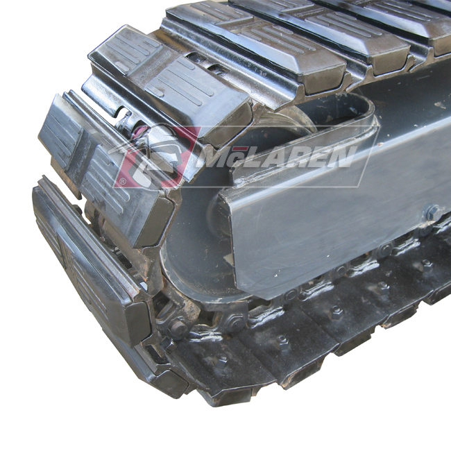 Hybrid Steel Tracks with Bolt-On Rubber Pads for Bobcat E55