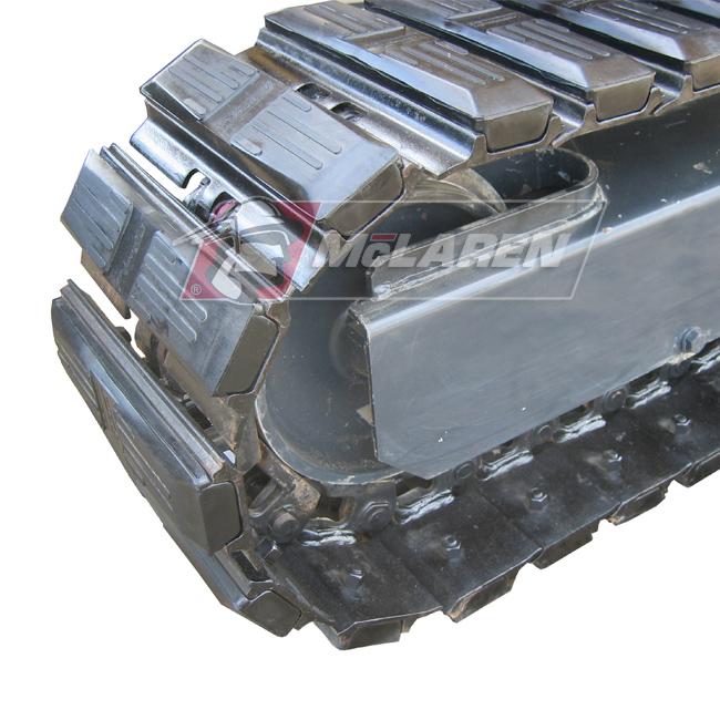Hybrid Steel Tracks with Bolt-On Rubber Pads for Kubota KX 038