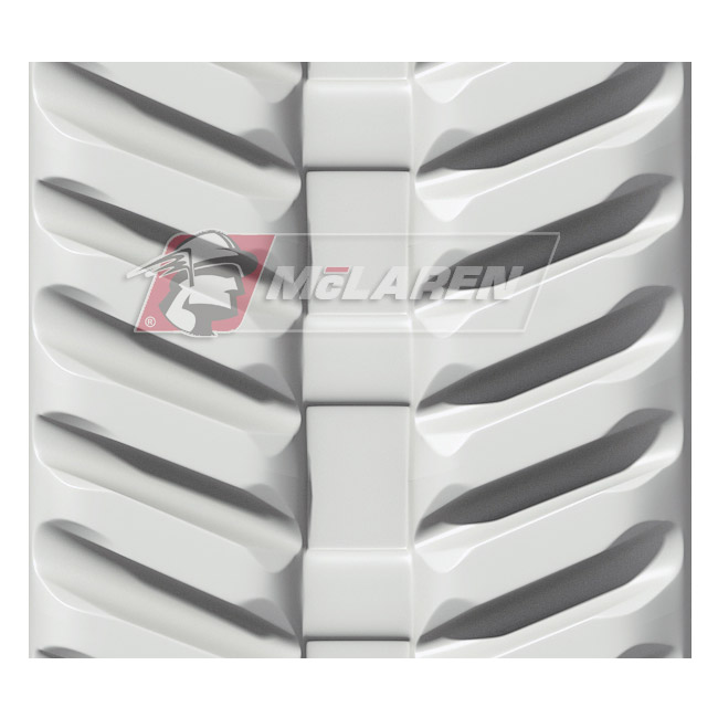 Next Generation Non-Marking White rubber tracks for Hitachi EX 08