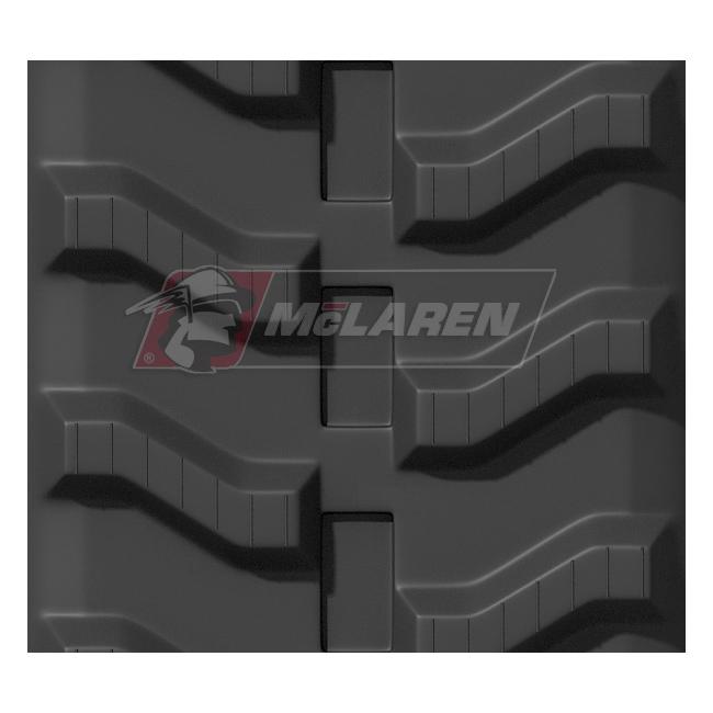 Maximizer rubber tracks for Hinowa 12.55