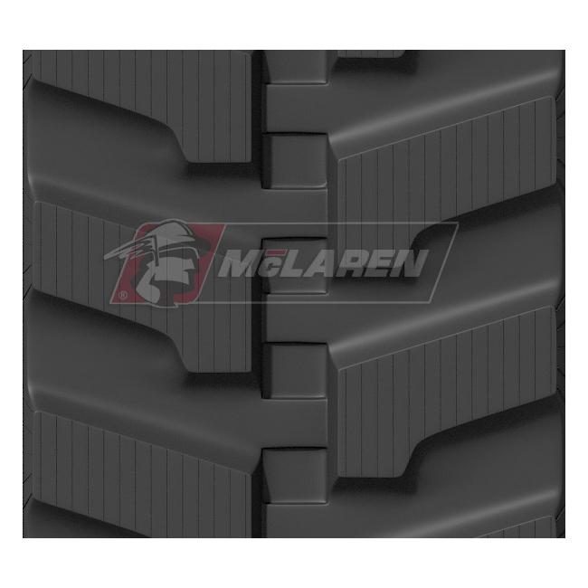 Maximizer rubber tracks for Komatsu PC 35 MR