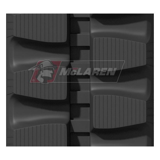 Maximizer rubber tracks for Komatsu PC 20 UU