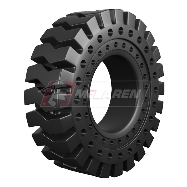 Nu-Air RT Solid Rimless Tires with Flat Proof Cushion Technology for Jcb 437 HT