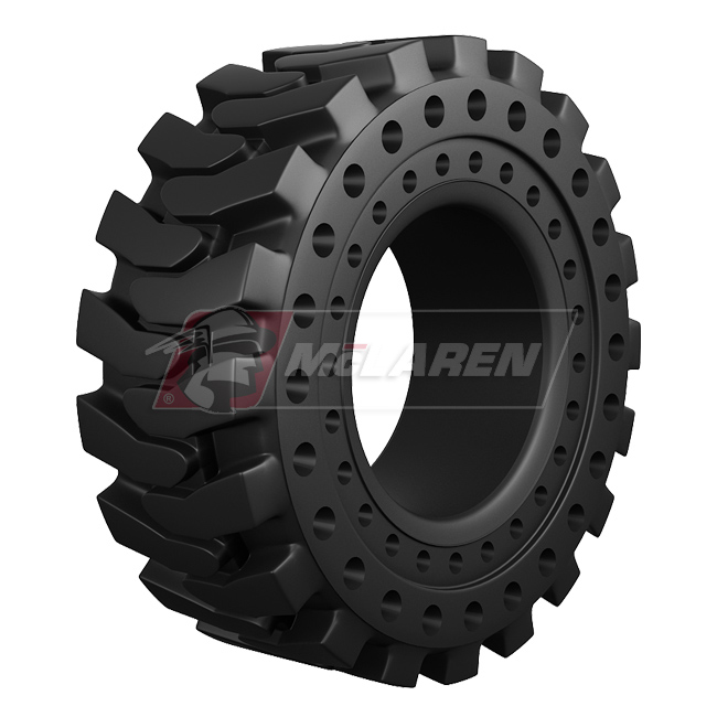 Nu-Air DT Solid Rimless Tires with Flat Proof Cushion Technology for Case 580M SERIES-3 2WD