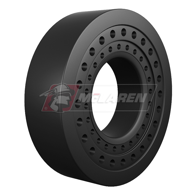 Nu-Air SS Solid Rimless Tires with Flat Proof Cushion Technology for Caterpillar 430 E 4WD