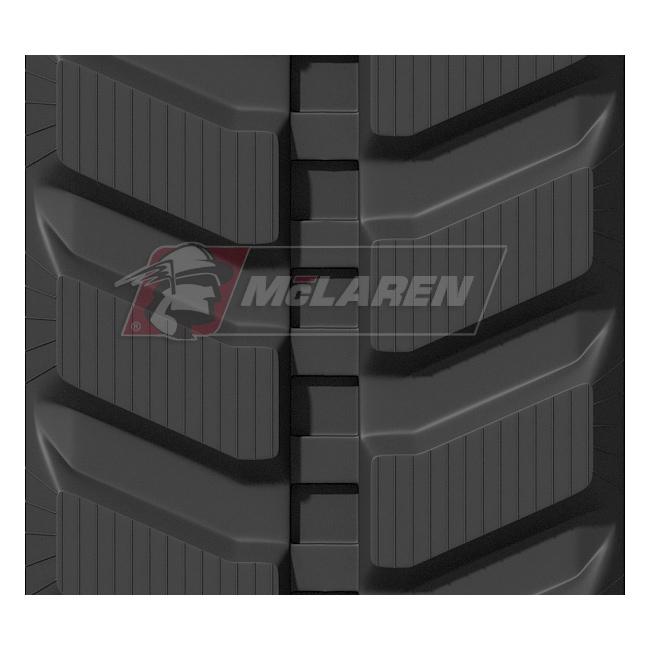 Radmeister rubber tracks for Hanix FB 800-2