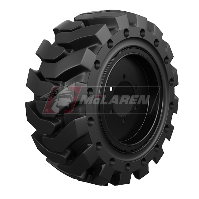 Nu-Air DT Solid Tires with Flat Proof Cushion Technology with Rim  Mec 3084 RT