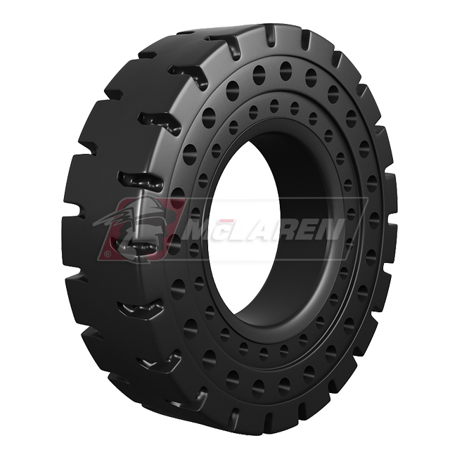 Nu-Air AT Solid Rimless Tires with Flat Proof Cushion Technology for Caterpillar 420 F