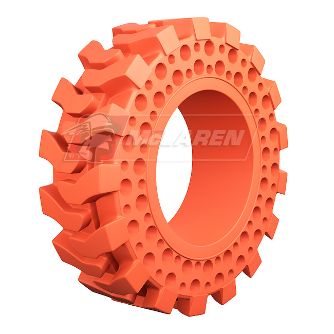 Nu-Air DT Non-Marking Solid Rimless Tires with Flat Proof Cushion Technology for Komatsu SK 06